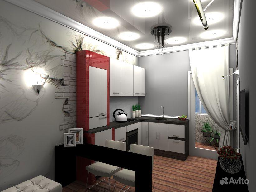 Дизайн узкой длинной кухни.