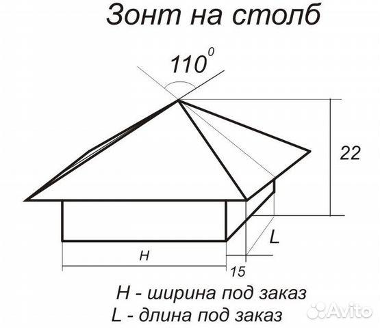 Как сделать колпак для столба