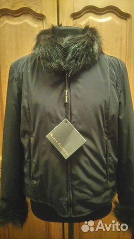 Куртка новая, двухстороняя, натуральный мех енот купить 1