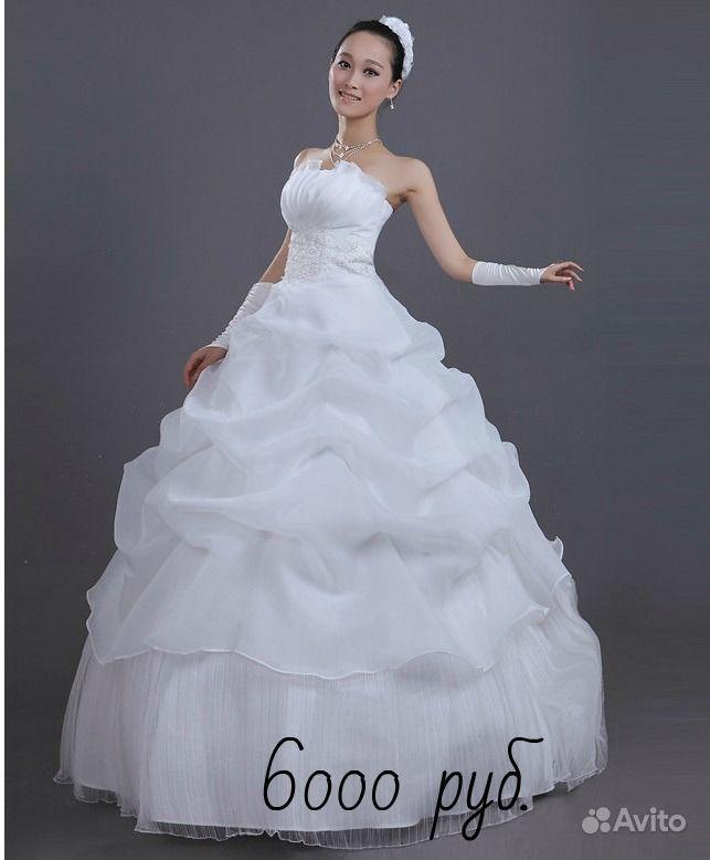 Объявление Абсолютно новое свадебное (5 фотографий). Платье на выпускной, свадьбу,