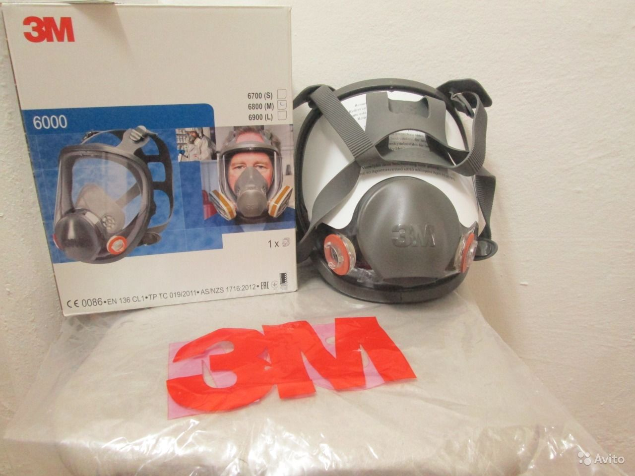 Полнолицевая маска 3М 6000 (6800 М) средн. разм  da5b30b0c9e4e