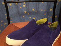Слипоны новые синие нубук — Одежда, обувь, аксессуары в Санкт-Петербурге