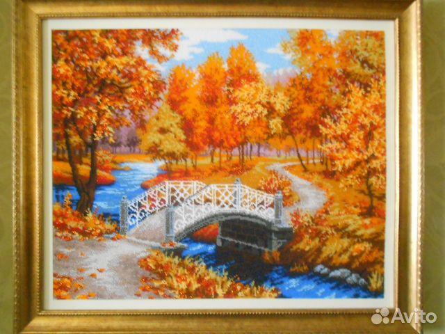 Осенняя мелодия вышивка