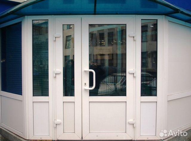 пвх входная дверь магазин