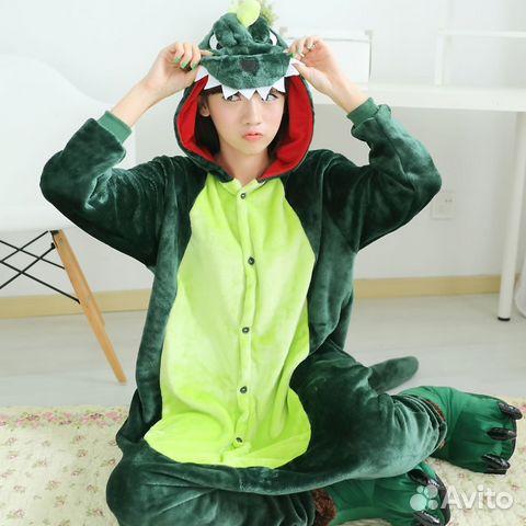 924ddc347f30f Пижама костюм кигуруми Динозавр / Дракон kigurumi купить в Москве на ...