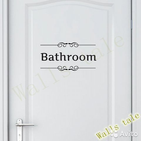 Toilet wall decals