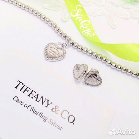 Серьги и браслет сердечки в стиле Tiffany (серебро   Festima.Ru ... a123e24a984