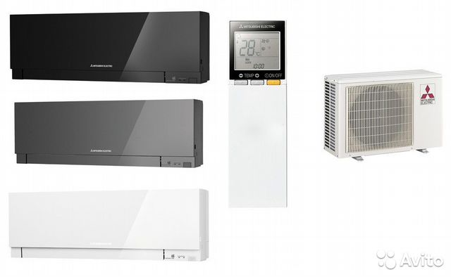 Кондиционер mitsubishi electric черный