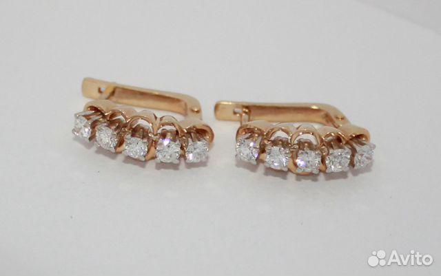 6a3f7c343955 Золотые серьги б у 585 пр с бриллиантами купить в Краснодарском крае ...