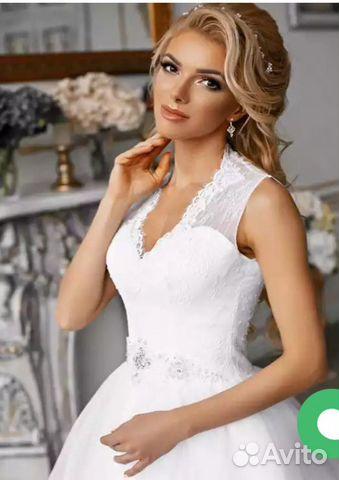52db40f613c А-силуэт новое свадебное платье 50-56
