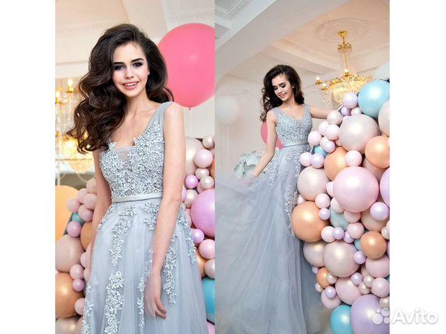 3f296116da7 Шикарное вечернее платье с ажурной вышивкой