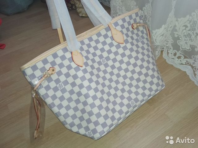 e7ab6f1f9604 Сумка Louis Vuitton Neverfull Azur Белая Луи Витто | Festima.Ru ...