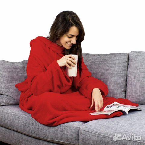 Одеяло плед с рукавами Snuggle 88422714282 купить 3