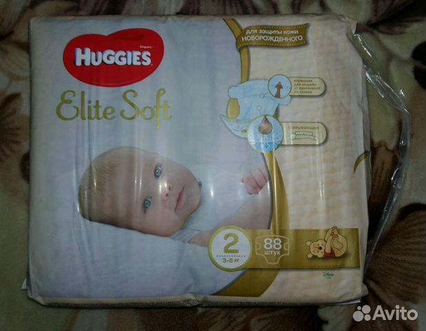 Подгузники Huggies Elite Soft 2 размер 88 штук   Festima.Ru ... 6df61707f5d