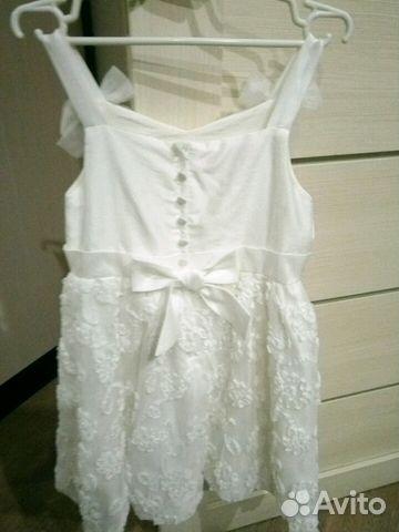 Платье 116-122 состояние нового 89137851946 купить 2