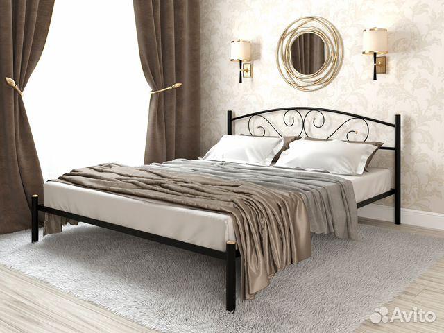3536260112a76 Кровать двуспальная металлическая Ларго flame купить в Санкт ...