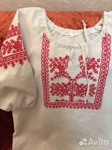 fe0b69a9ed3 Блузка в русском стиле купить в Москве на Avito — Объявления на ...