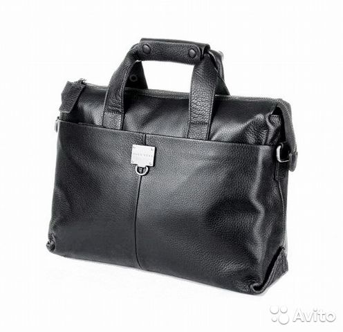 3d96b0f4b2c5 Мужская кожаная сумка Hugo Boss с брелком lux купить в Москве на ...