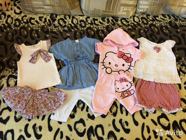 Packages of clothing for girls of all ages