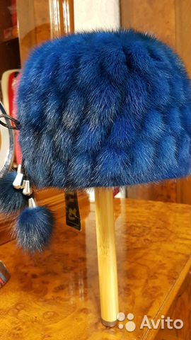 Шапка норковая (вязанка) 89145247425 купить 1