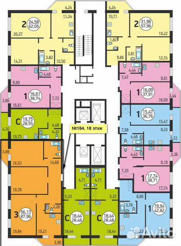 3-к квартира, 88 м², 18/26 эт. купить 1