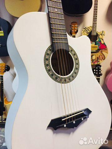 Гитара акустическая Belucci белая  89171930067 купить 1