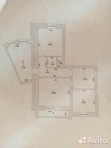 3-к квартира, 95 м², 2/5 эт.  89093540945 купить 1
