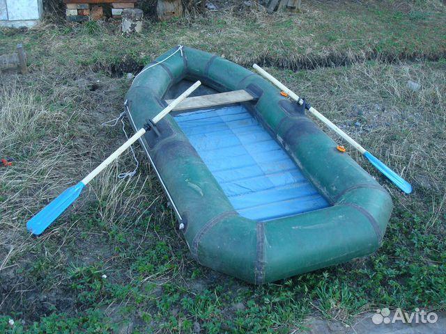 Лодка одноместная резиновая
