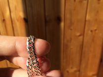 Серебреная цепь на запястье/на шею
