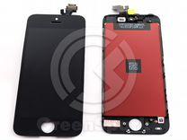 Дисплей для iPhone 5 +тач черный с рамкой AAA