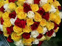 Букет из 101 розы 50см, доставка цветов