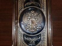 Нарды резные «Герб СССР и РФ»