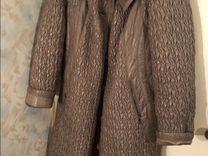 Пальто драп большой размер