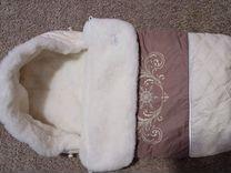 Конверт меховой для новорожденных. Little piople