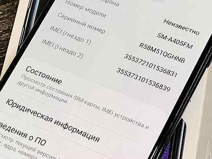 4/64 Samsung A40 / Black / A405F