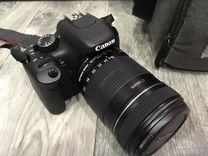 Зеркальный фотоаппарат Canon 550 d 18-135