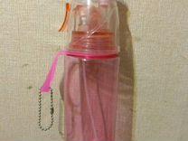 Бутылка спортивная, с пульверизатором и трубочкой