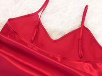 Красный топ майка шёлк