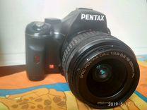 Pentax k-x + объектив + сумка + флешка
