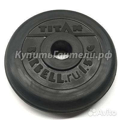 Блин обрезиненный titan Barbell 1,5 кг (d31)  83432135513 купить 2