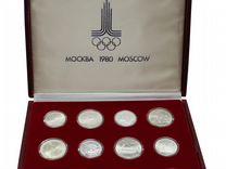 Олимпиада 1980 Полный комплект из 28 монет Серебро